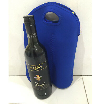 Neoprene Wine Bottle Sleeve Champagne Cooler Holder Single Handle Tote Bag
