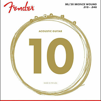 New Fender 70XL 80/20 Bronze Acoustic Strings, Ball End, Extra Light 10-48