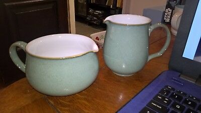 "Denby Regency Green Gravy Jug  3""  And Milk Jug 4"""