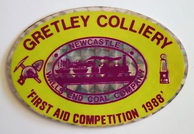 Gretley Colliery First Aid Comp Mining Sticker