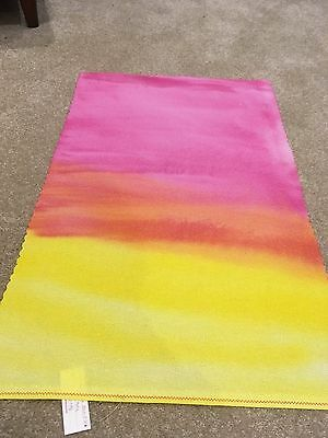 Hand painted opalescent 14 count aida - yellow, orange and pink