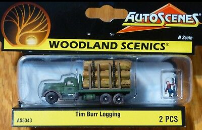Tim Burr Logging Truck , Model Trains N Scale Accessories - Woodland Scenics