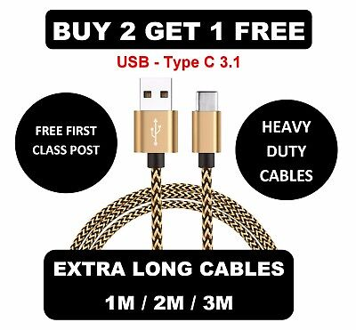 Extra Long USB Type C 3.1 Fast Data Charger Cable Lead for LG G5 G6 V20