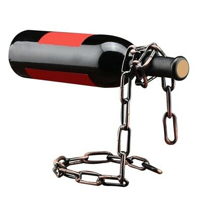 (Bronze) - Maistore Magic chain wine bottle holder Suspension Handmade Plating