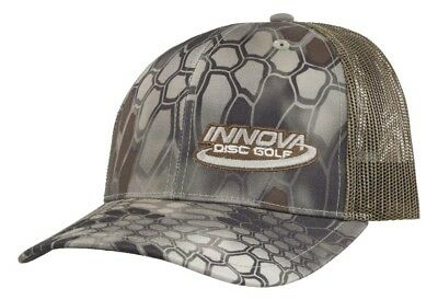 (Reptile Camo) - Innova Logo Adjustable Mesh Disc Golf Hat. Best Price