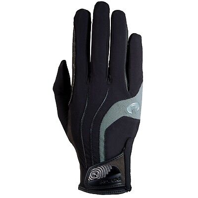 (8.5, black-grey) - Roeckl - riding gloves MALIA. Free Shipping