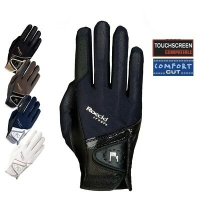 (8.5, Navy) - Roeckl - riding gloves MADRID. Free Delivery