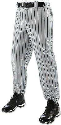 (Large, Grey/Navy) - Champro Youth Triple Crown Pinstripe Pant. Brand New