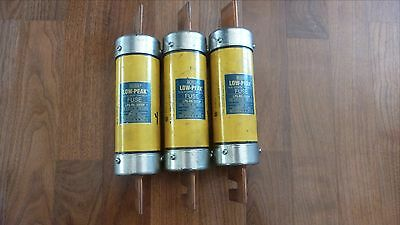 COOPER BUSSMANN LPS-RK-300SP, Lot of 3, Low-Peak Dual Element Time Delay Fuse