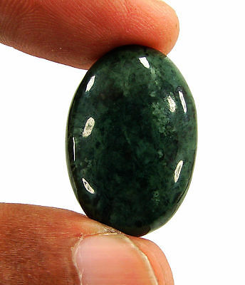 21.55 Ct Natural Green Jade Loose Gemstone Cabochon Stone - 15957