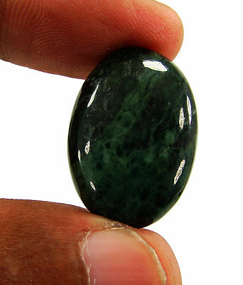 24.00 Ct Natural Green Jade Loose Gemstone Cabochon Stone - 15953