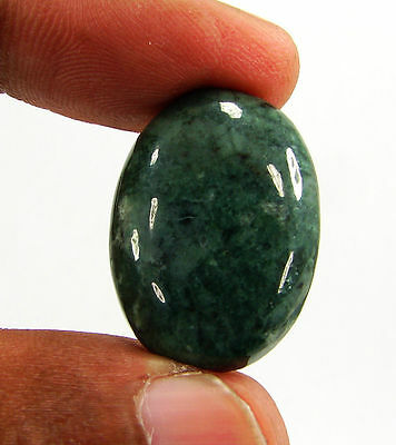 25.40 Ct Natural Green Jade Loose Gemstone Cabochon Stone - 15955