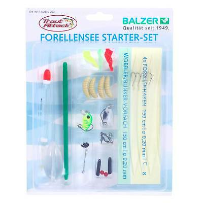 Balzer Forellensee Set angeln - Trout Attack Starter Set Willi Frosch 33 Teile