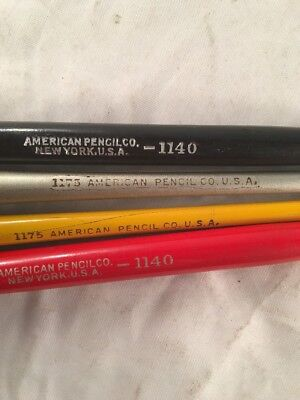 Vintage American Pencil Co Calligraphy Pens Made in New York Lot of 4 1140 1175