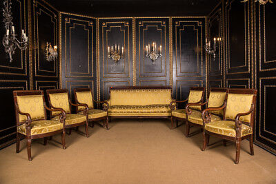 Original French Empire Set Salon Sofa around 1820