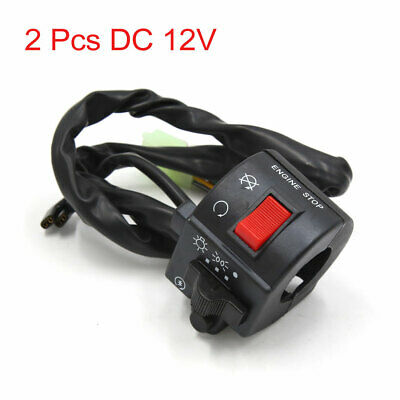 """2Pcs 12V 7/8"""" Motorcycle Handlebar Control Head Light Horn Switch for GS125"""