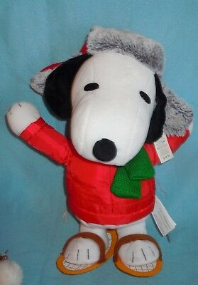 """14"""" Animated Christmas Snoopy Dances And Plays Music Plush Stands Up"""