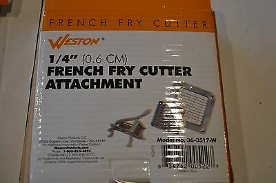 "Weston 1/4"" french fry cutter attach ment and french fry cutter Cup Feet (4 pcs)"