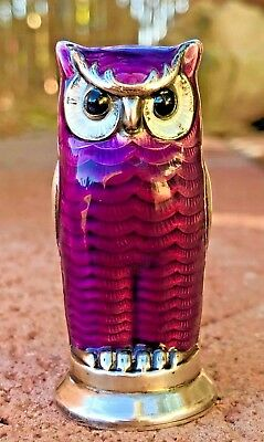 DAVID ANDERSON ~ Sterling Silver Enamel Guilloche ~ OWL Salt or Pepper - Norway
