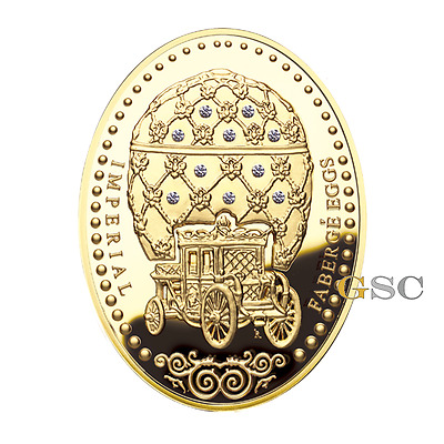Niue 2012 2000$ Coronation Egg Imperial Faberge Egg series 10oz fine gold coin