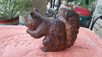 Handcrafted wooden Squirrel sculpture