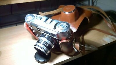 Fed 4L 35mm Rangefinder Camera with f2.8/53mm M39 Leica Screw Mount Lens + Case