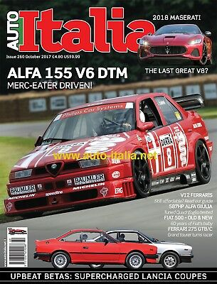 Auto italia Magazine issue 260 Alfa 155 DTM Lancia Beta Alfa Giulia Ferrari 70th
