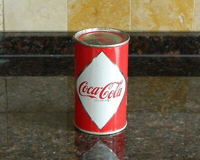 1960 coca cola coke can vintage Canada 1st generation diamond flat top soda can