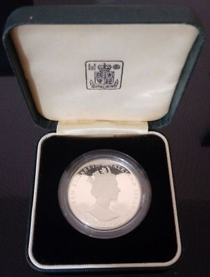 Falkland Islands 1986 Silver Commemorative Two Pounds Coin (.925, 2.28 Grm)