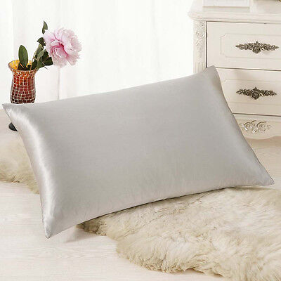 Rectangle Cushion Cover Silk Throw Pillow Case Pillowcase Gray Pillow case