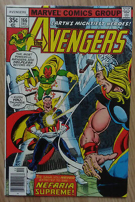 Avengers Vol 1 #166 (1977) Goodwin Shooter Byrne Perez VF+ Combined P&P