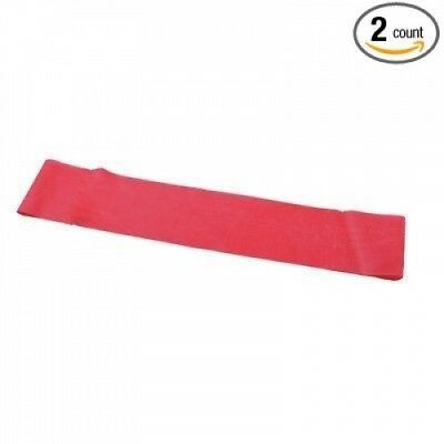 25cm Band Exercise Loop [Set of 2] Size / Colour: Light / Red. Cando. Brand New