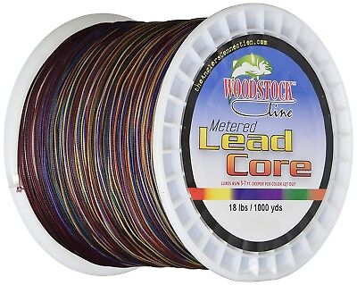 (100 Yards) - Woodstock 8.2kg Metered Lead Core Fishing Line. Shipping Included
