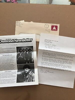 Official Osmond Fan Club Newsletter -July, 1983 & Signed Letter by Mother Osmond