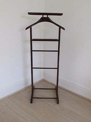 Antique Valet Butler Clothes Hanger Wooden Stand Airbnb Vintage Sidcup/Hastings