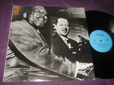 LP Count Basie & Lester Young: At Newport - DDR Amiga 8 50 076