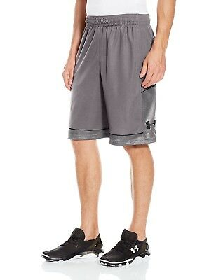 (Large, Graphite/Stealth Gray) - Under Armour Men's Baseline Basketball Shorts