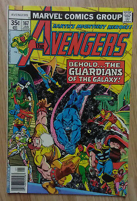 Avengers Vol 1 #167 (1978) Guardians Of The Galaxy VF+ Combined P&P Available