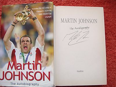 """Signed Martin Johnson """"the Autobiography""""  (Hb)"""