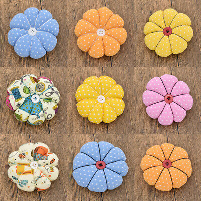 DIY Fabric Sewing Needles Pin Pumpkin Pin Cushion Handmade Elastic Wrist Belt