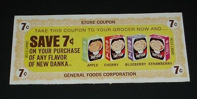 1970's DANKA Toaster Pastry coupon