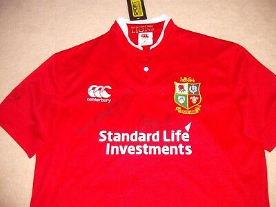 British Lions Rugby Shirt 2017 Signed Watson+Nowell