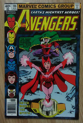 Avengers Vol 1 #186 (1979) Modred The Mystic Byrne Micheline VF+ Combined P&P