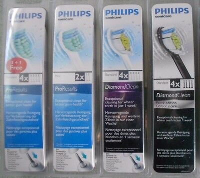 Philips Sonicare Genuine Replacement Toothbrush Heads Pro Results Diamond Clean