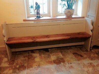 ** REDUCED**.Painted Church Pew/Bench