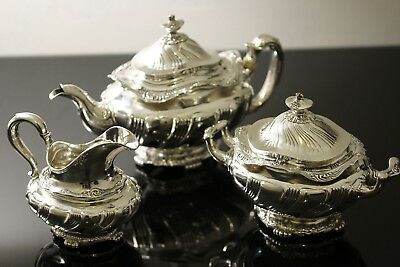 Tiffany & Co. 3 Piece Teapot Set in Sterling Silver T&CO NO MONOGRAM