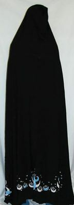 Nile Moon Goddess Black Ritual Ceremonial Hooded Cape 6.5 ft. Wicca Pagan Magick