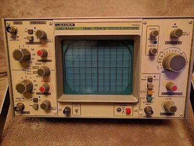 Leader Lbo-514A 15Mhz Dual Channel Oscilloscope