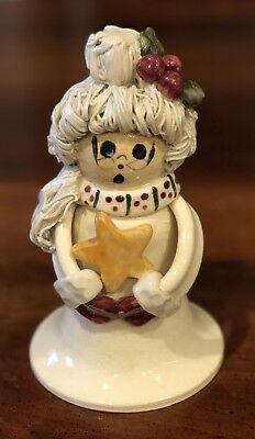 Rare NC Piney Woods Pottery Mrs. Santa Claus Star 2004 Collection JGM