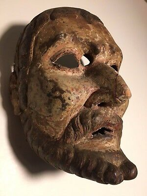 Antique, 19th Century, Ethnographic, Wooden/Wood Mask Guatemala (Guatemalan)